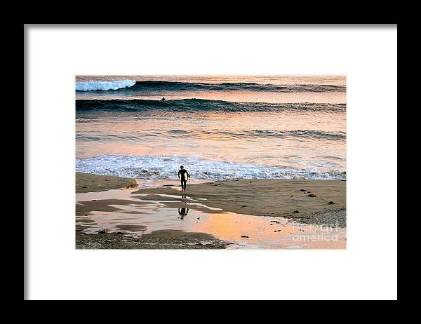 Sunset Framed Print featuring the photograph Such A Great Day by Johanne Peale