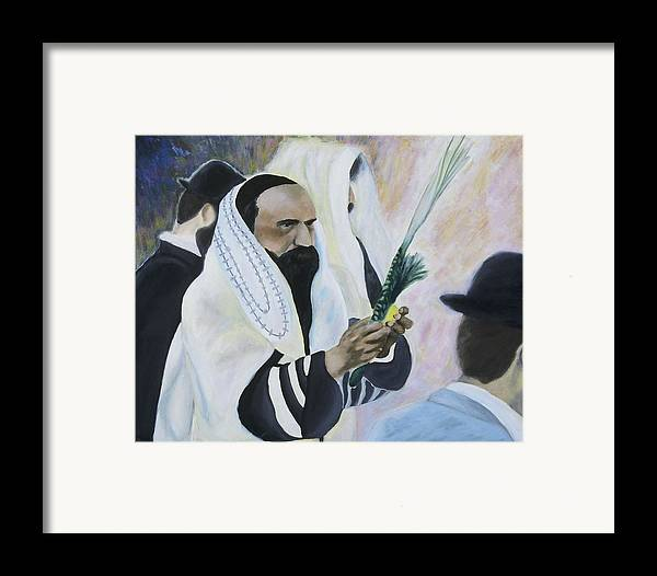 Fine Art Framed Print featuring the painting Sukkot by Iris Gill