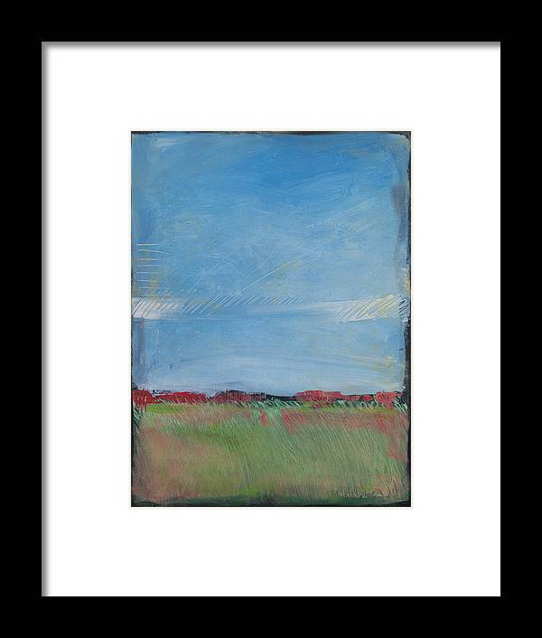 Summer Framed Print featuring the painting Summer Field by Tim Nyberg
