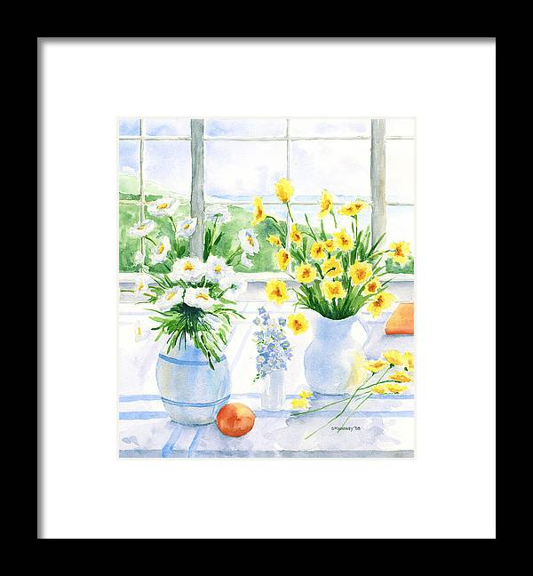 Flowers Framed Print featuring the painting Summer Light by Susan Mahoney