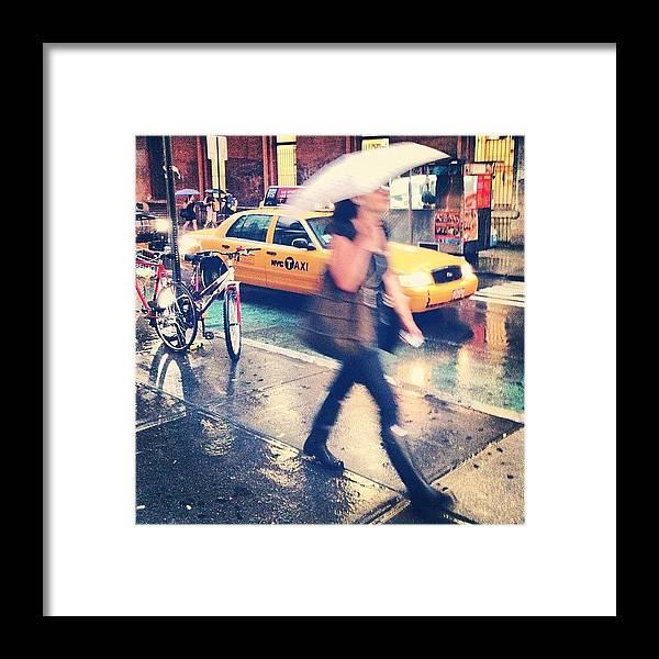 Summer Framed Print featuring the photograph Summer Rain by Randy Lemoine