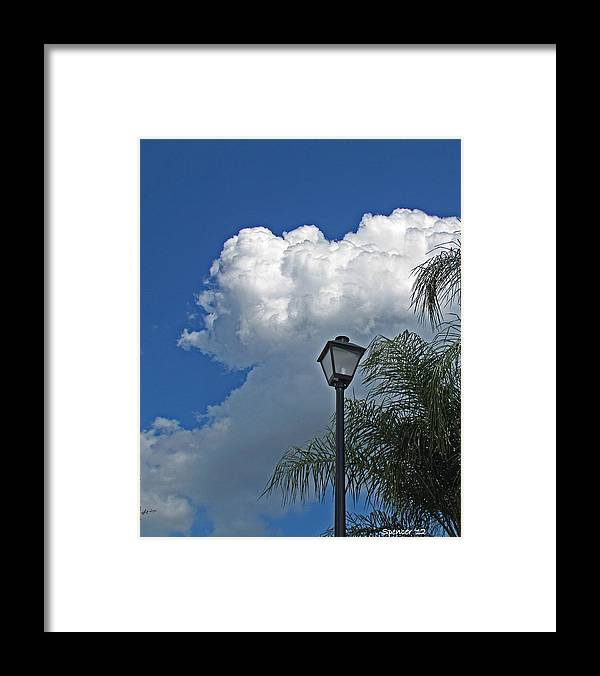 Sky Framed Print featuring the photograph Summer Sky Vertical by T Guy Spencer