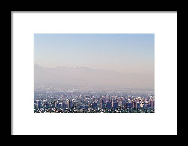 Photography Framed Print featuring the photograph Summer Smog And Pollution In Santiagos by Jason Edwards