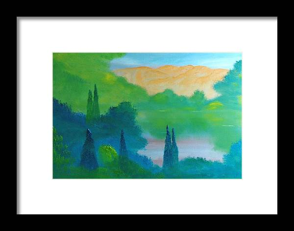 Landscape Framed Print featuring the painting Summer Song by David Snider