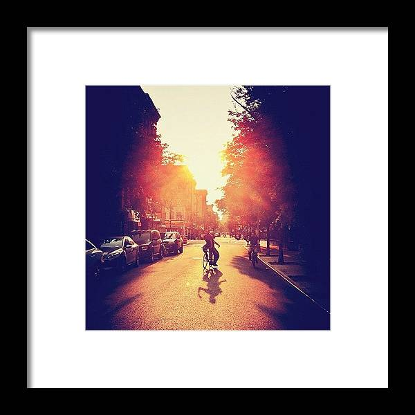 New York City Framed Print featuring the photograph Summer Sunlight - Lower East Side - New York City by Vivienne Gucwa