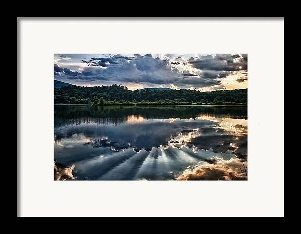 Fine Art Landscapes Framed Print featuring the photograph Summer Thunder by Nathan Larson