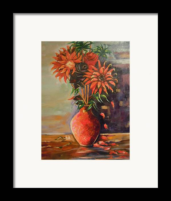 Summer Time Framed Print featuring the painting Summer Time by Michael Echekoba