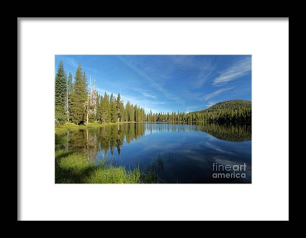 Summit Lake Framed Print featuring the photograph Summit Lake Blues by Adam Jewell
