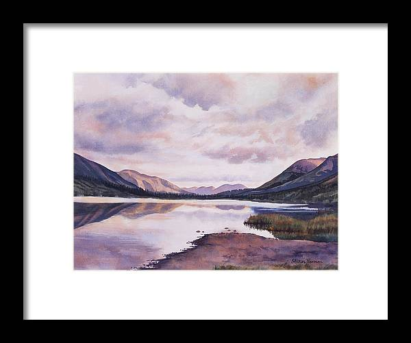 Lake Framed Print featuring the painting Summit Lake Evening Shadows by Sharon Freeman
