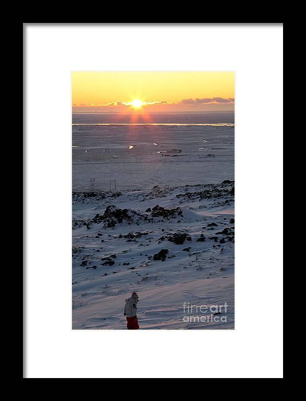 Sunrise Framed Print featuring the photograph sun by Milena Boeva