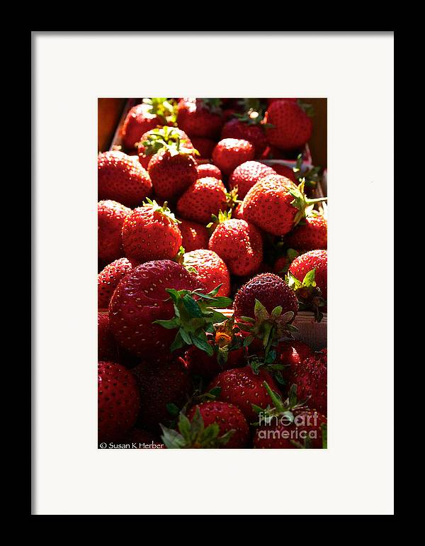 Food Framed Print featuring the photograph Sun Ripened by Susan Herber