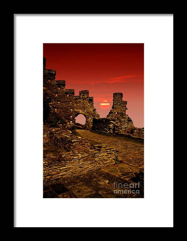 Castle Framed Print featuring the photograph Sun Set Castle by Nigel Hatton