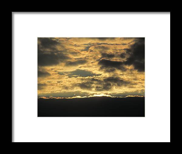 Suns Framed Print featuring the photograph Sunday Autumn Sunset Three by Tina M Wenger