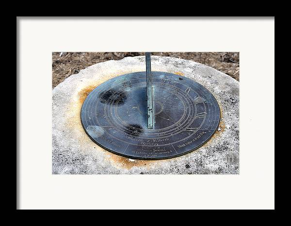 Sundial Framed Print featuring the photograph Sundial by Joanne Kocwin