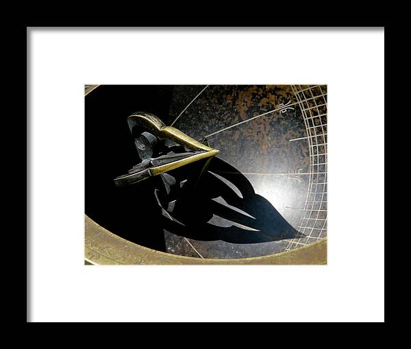 Sundial Framed Print featuring the photograph Sundial by Mary Lane