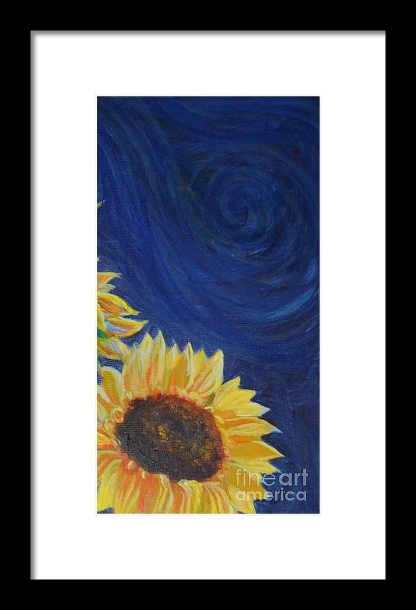 Sunflower Framed Print featuring the painting Sunflower by Kaisa Art