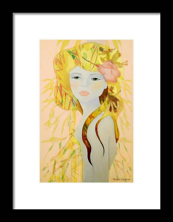Girl Framed Print featuring the painting Sunlight Breeze by Barbie Guitard
