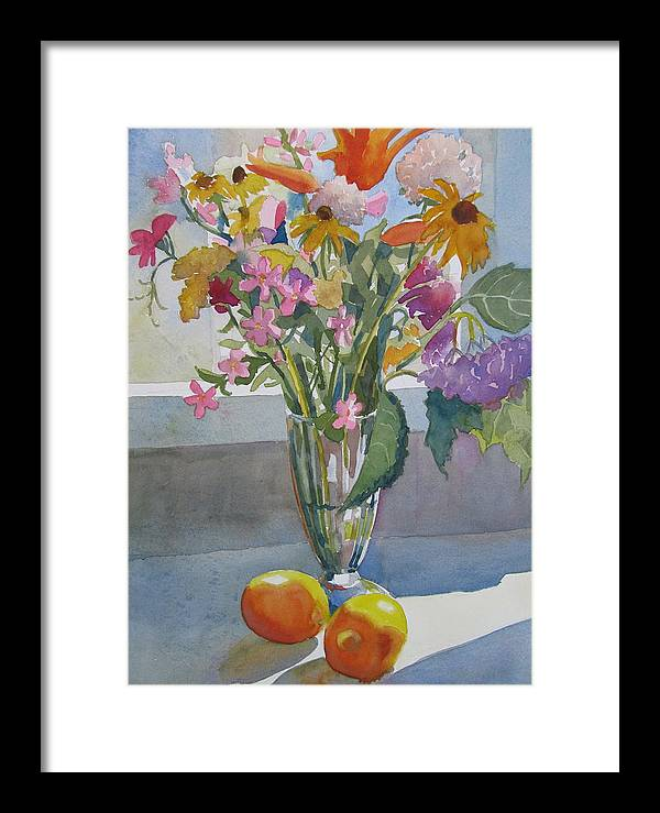 Flowers Framed Print featuring the painting Sunlit by Sharon Lehman