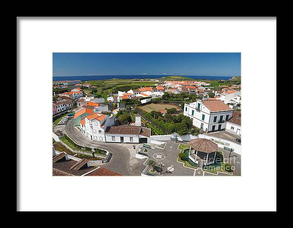 Azores Framed Print featuring the photograph Sunny Day At Ribeirinha by Gaspar Avila