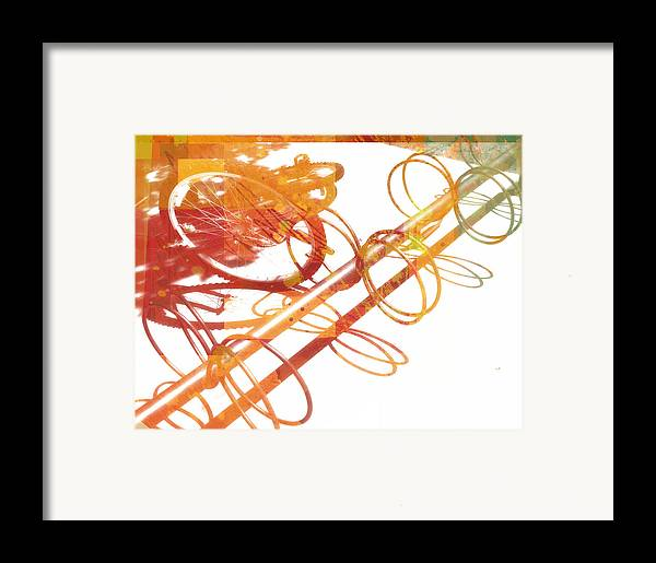 Abtract Framed Print featuring the digital art Sunny Summer Afternoon by Ann Powell