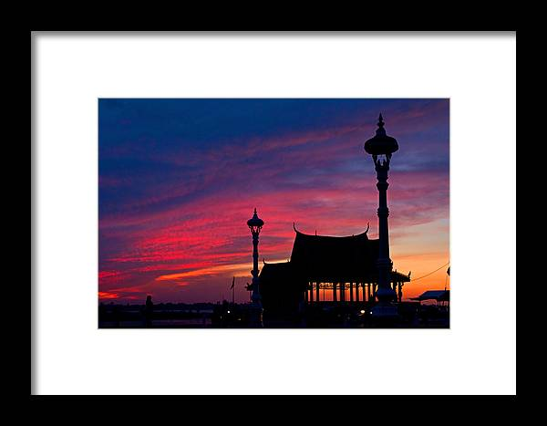 Asia Framed Print featuring the photograph Sunrise At Sisowath Quay. by David Freuthal