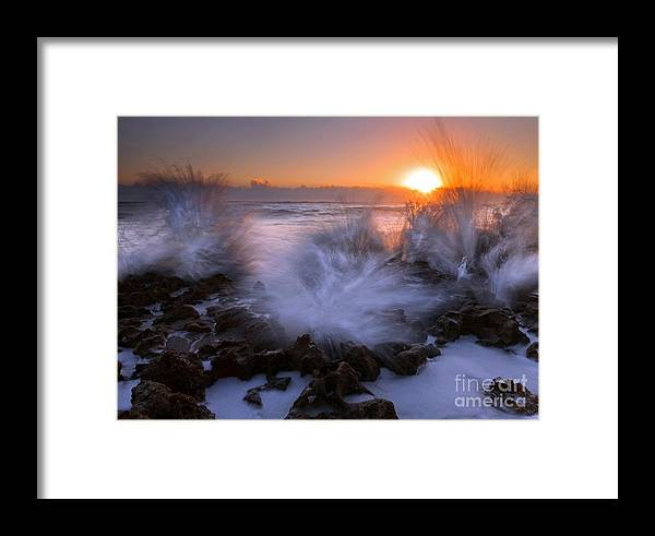 Coral Cove Framed Print featuring the photograph Sunrise Explosion by Mike Dawson