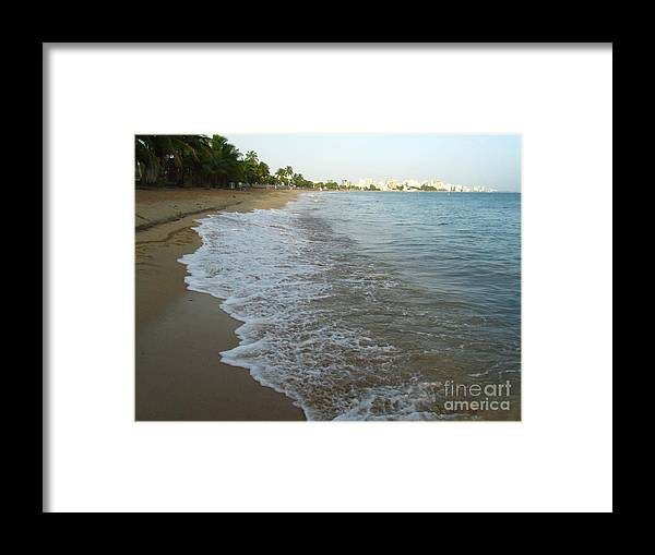 Sunrise Framed Print featuring the photograph Sunrise In Isla Verde Puerto Rico by Tamika Carroll