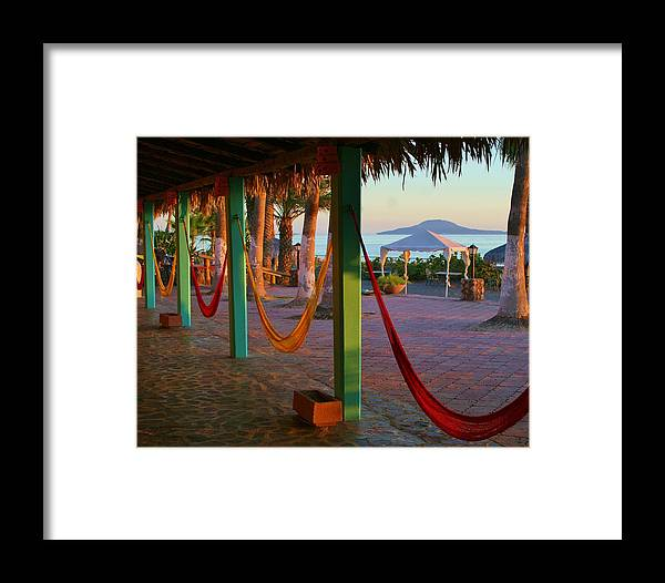 Photo Framed Print featuring the photograph Sunrise In Loreto by Renee Sinatra