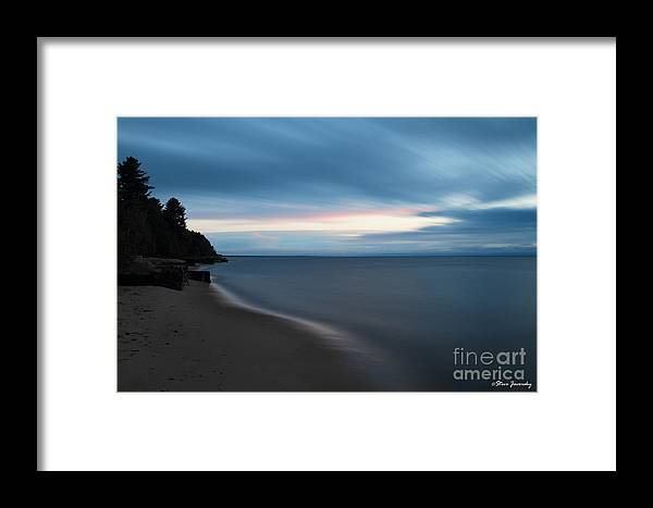 Michigan Upper Peninsula Framed Print featuring the photograph Sunrise In Paradise by Steve Javorsky
