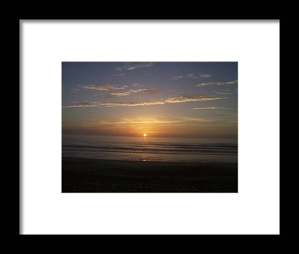Nature Framed Print featuring the photograph Sunrise by Katie OKeefe