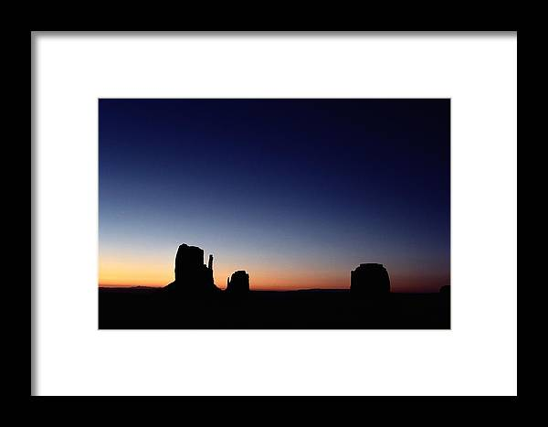 mitten Buttes Framed Print featuring the photograph Sunrise Over The Mitten Buttes by Michael Nichols