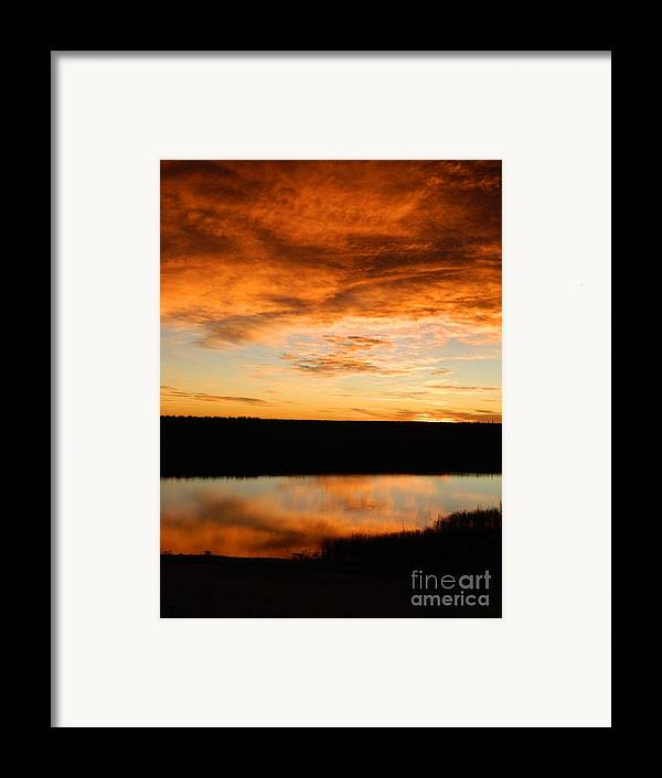 Sunrise Framed Print featuring the photograph Sunrise Reflections by Sara Mayer