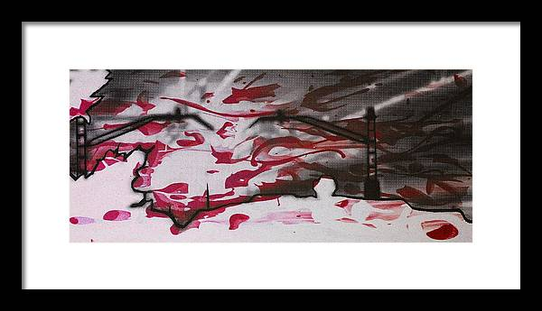 Silhouette Framed Print featuring the digital art Sunset - Serigrafie Kunst by Arte Venezia
