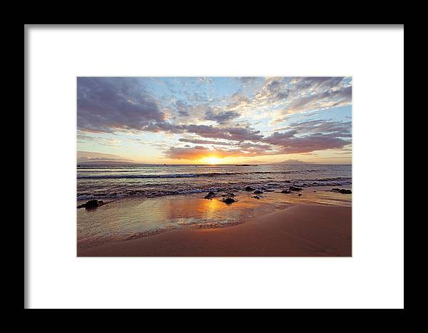 Beaches Framed Print featuring the photograph Sunset At Cove Park by David Olsen