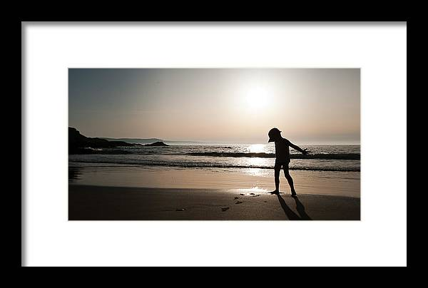 Xenia Seurat Framed Print featuring the photograph Sunset At Freathy by Xenia Seurat