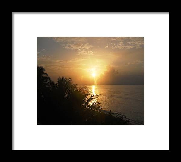 Sunset Framed Print featuring the photograph Sunset At Rincon by Aimee Bruno
