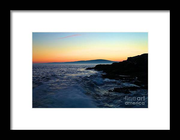 Acadia National Park Framed Print featuring the photograph Sunset At Schoodic by Adam Jewell