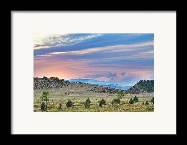 high Park Wildfire; Colorado; Co; Fire; Colorful; ft Collins; fort Collins; decorative Canvas Prints; fine Art; Nature; Landscape; photography Prints; canvas Art; acrylic Prints; stock Images; james Bo Insogna; larimer County; High; Park Framed Print featuring the photograph Sunset At The Colorado High Park Wildfire by James BO Insogna