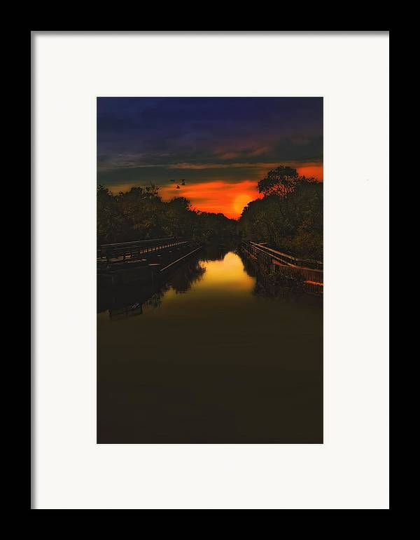 Sunset Photography Framed Print featuring the photograph Sunset At The Old Canal by Tom York Images