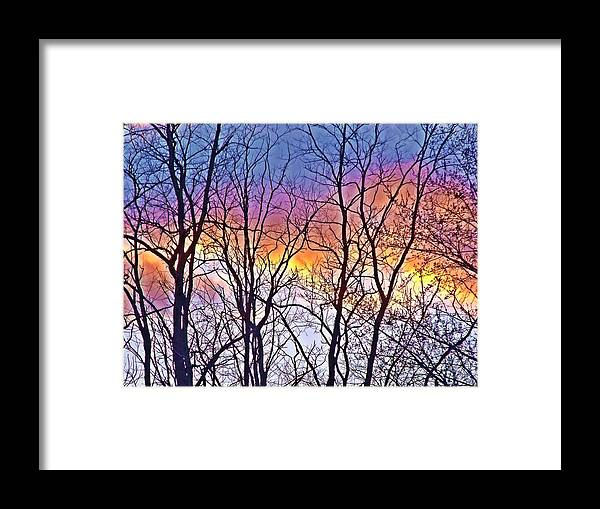Cloud Framed Print featuring the photograph Sunset Cloud Color 12 by Dave Dresser