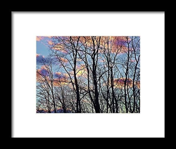 Clouds Framed Print featuring the photograph Sunset Cloud Colors 5 by Dave Dresser
