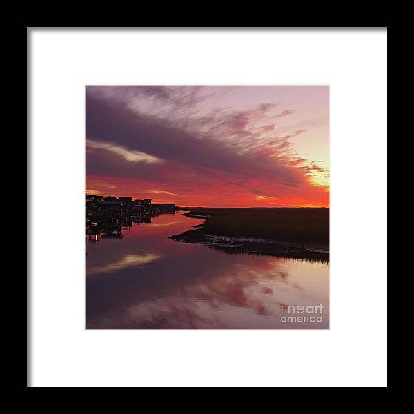 Coastal Sunset Framed Print featuring the photograph Sunset Creek by Thomas Lovelace