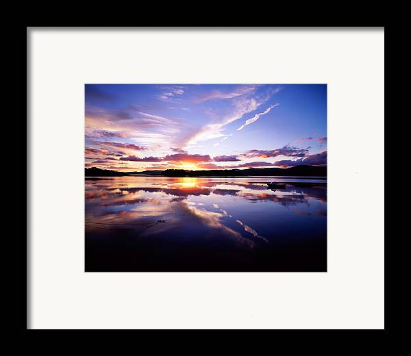 Bay Framed Print featuring the photograph Sunset, Dinish Island Kenmare Bay by The Irish Image Collection