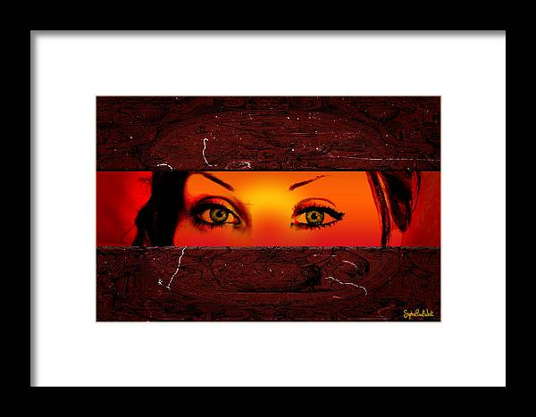 Sunset Framed Print featuring the photograph Sunset Eyes by Stephen Paul West