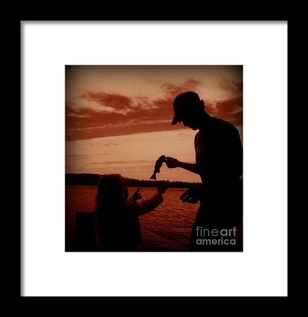 Fishing Framed Print featuring the photograph Sunset Fishing by Christy Beal