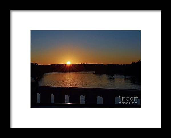 Color Photography Framed Print featuring the photograph Sunset From The Bridge by Sue Stefanowicz
