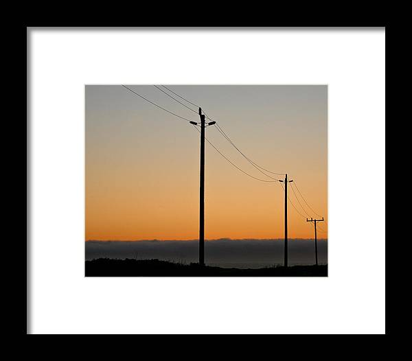 Framed Print featuring the photograph Sunset In Nor. Ca by Liz Santie