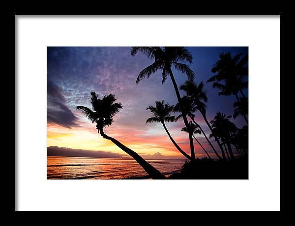 Sunset Framed Print featuring the photograph Sunset In Paradise by Jama Pantel