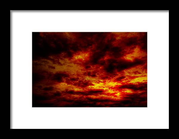 Acrylic Prints Framed Print featuring the photograph Sunset by John Herzog