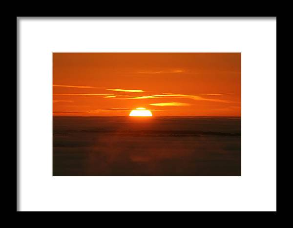 Geography Framed Print featuring the photograph Sunset by Laurent Laveder